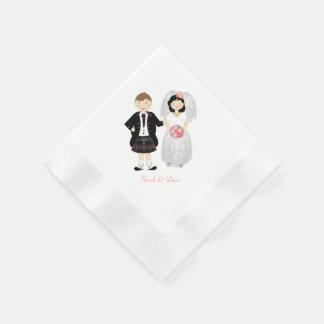 Cute Scottish Bride and Groom Disposable Napkin