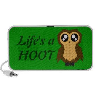 Cute Scruffy Owl Mini Speakers