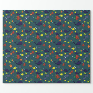 Cute Sea Life Wrapping Paper