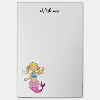 cute sea mermaid princess (blonde hair) post-it notes