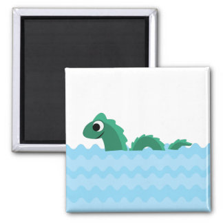 Cute Sea Monster Square Magnet