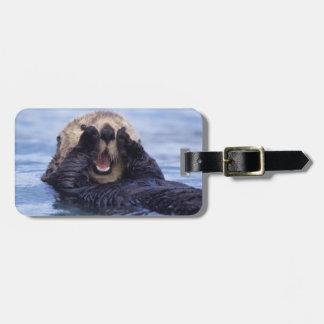 Cute Sea Otter   Alaska, USA Luggage Tag