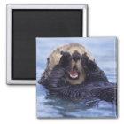 Cute Sea Otter   Alaska, USA Magnet