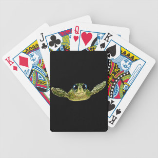 Cute sea turtle bicycle playing cards