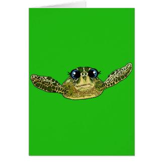 Cute sea turtle card