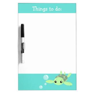 Cute Sea Turtle Dry Erase Board