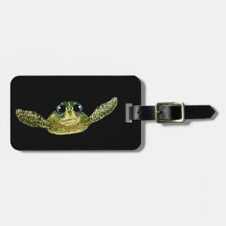 Cute sea turtle luggage tag