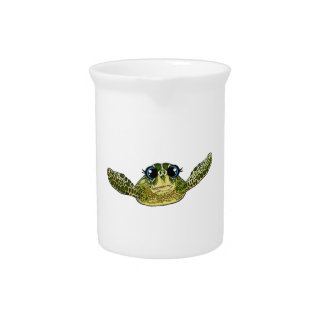 Cute sea turtle pitcher