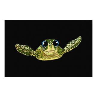 Cute sea turtle stationery