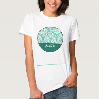 Cute Seafoam Green Damask T Shirts