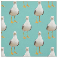Cute Seagull on a Light Teal Background
