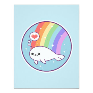 Cute Seal Birthday Invitations