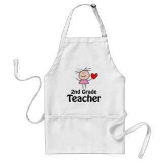 Cute Second Grade Teacher School Apron