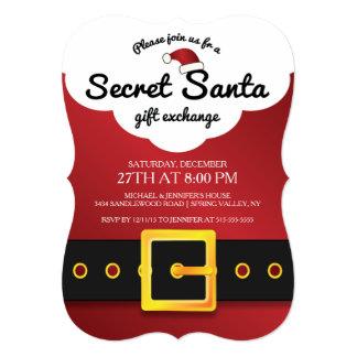 CUTE Secret Santa Gift Exchange Party Card