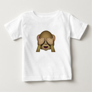 Cute See No Evil Monkey Emoji Baby T-Shirt