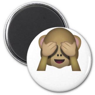 Cute See No Evil Monkey Emoji Magnet