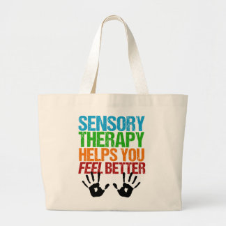 Cute Sensory Therapy OT Handprints Large Tote Bag