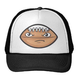 Cute Serious Foot Ball Cartoon Trucker Hat