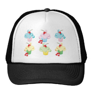 Cute set of cupcakes cap
