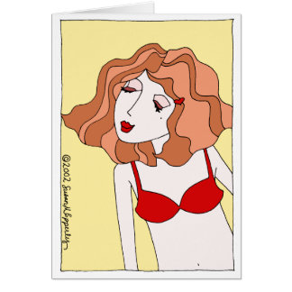 Cute Sexy Valentine Love Desire Kiss & Make Up Greeting Card