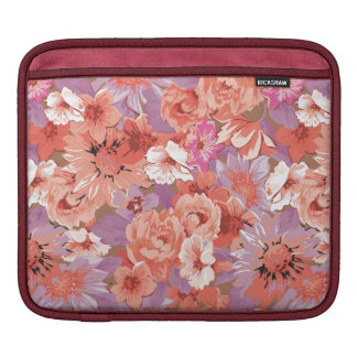 Cute Shabby Floral Pattern iPad Sleeves