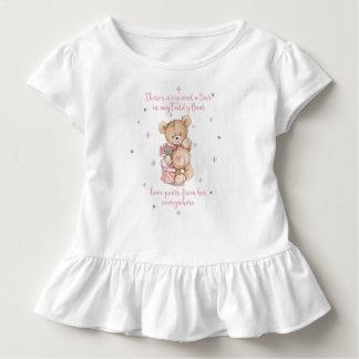Cute Shabby Watercolor Teddy Bear Toddler T-Shirt