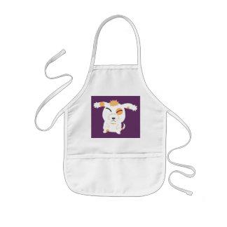 cute shaggy dog kids apron