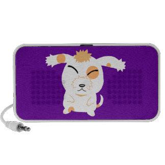 Cute shaggy dog PC speakers
