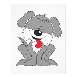 Cute Shaggy Puppy Cartoon 21.5 Cm X 28 Cm Flyer