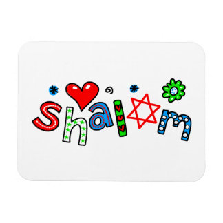 Cute Shalom Greeting Text Expression Flexible Magnets