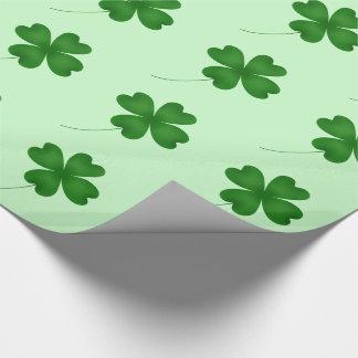 Cute shamrock pattern wrapping paper
