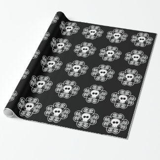 Cute shamrock with skull wrapping paper