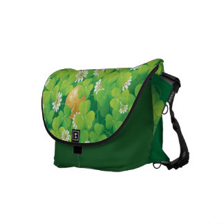 Cute Shamrocks Commuter Bag