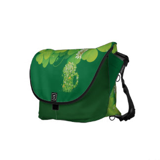 Cute Shamrocks Courier Bag