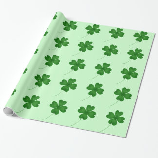 Cute shamrocks for St. Patrick's Day Wrapping Paper