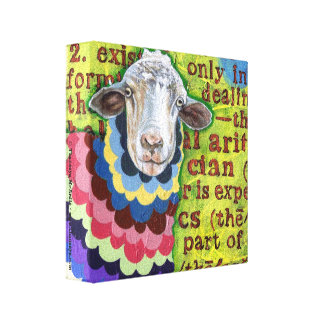 Cute Sheep Art Gallery Wrap Canvas