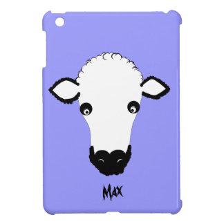 Cute Sheep Face add text Cover For The iPad Mini