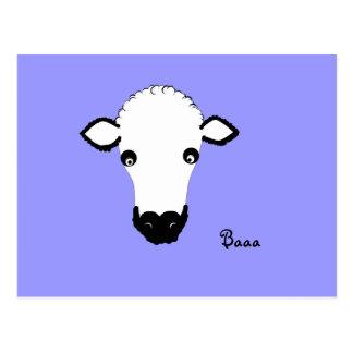 Cute Sheep Face add text Post Card