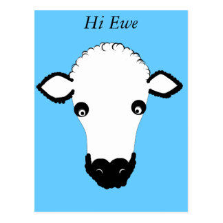 Cute Sheep Face add text Post Cards