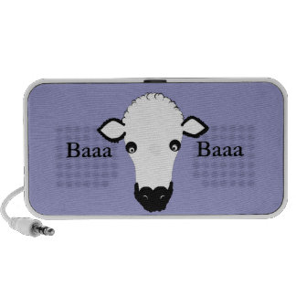 Cute Sheep Face add text Travel Speaker