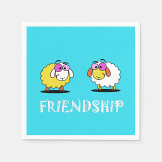 Cute Sheep Friendship Paper Napkin