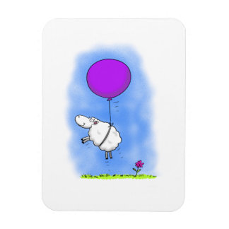 Cute sheep funny cartoon magnet