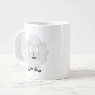 Cute Sheep kawaii Zxu64 Large Coffee Mug