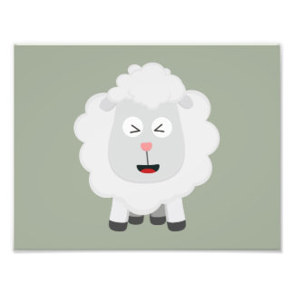 Cute Sheep kawaii Zxu64 Photo Print