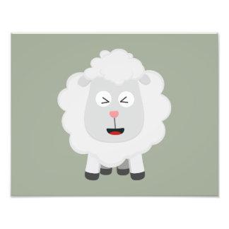 Cute Sheep kawaii Zxu64 Photographic Print
