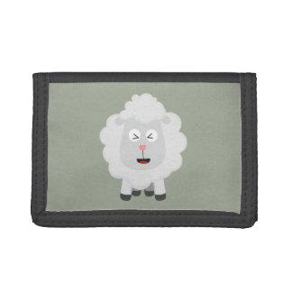 Cute Sheep kawaii Zxu64 Tri-fold Wallets