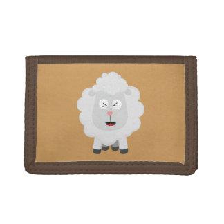 Cute Sheep kawaii Zxu64 Trifold Wallets