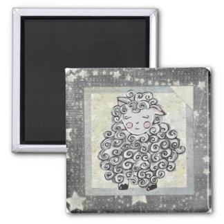 Cute Sheep Square Magnet