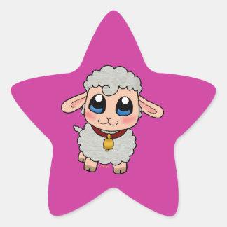 Cute Sheep Star Sticker