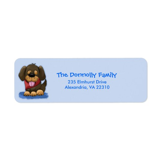 Cute Shepherd Puppy Mix Return Address Labels